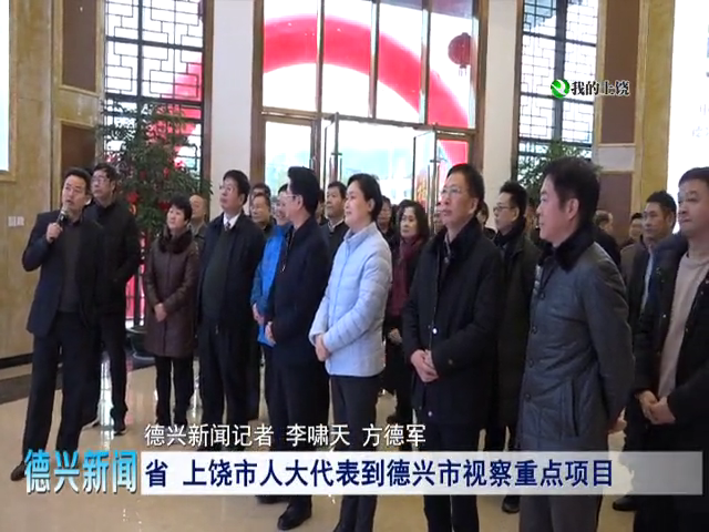 省、上饶市人大代表到德兴市视察重点项目
