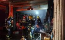 万年县一百货店面着火