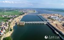 壯觀!航拍江西信江八字嘴航電樞紐工程